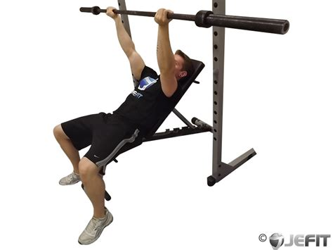 bench presses exercise barbell reverse grip incline bench press exercise