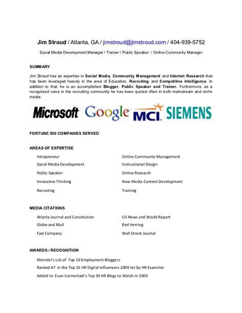 social media manager resume samples visualcv resume samples database