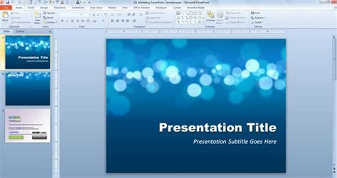 Free Marketing Powerpoint Template Free Powerpoint Template Powerpoint 2010