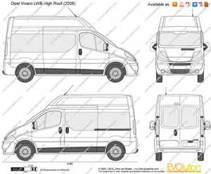 Vauxhall Vivaro Length The Blueprints Vector Drawing Opel Vivaro Lwb High
