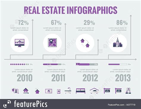business graphics real estate infographic elements stock illustration   featurepics