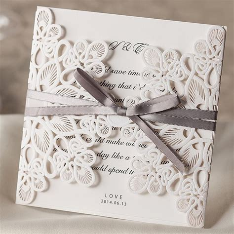 wedding card decorations ideas 25pcs white wedding invitations card laser cut wedding