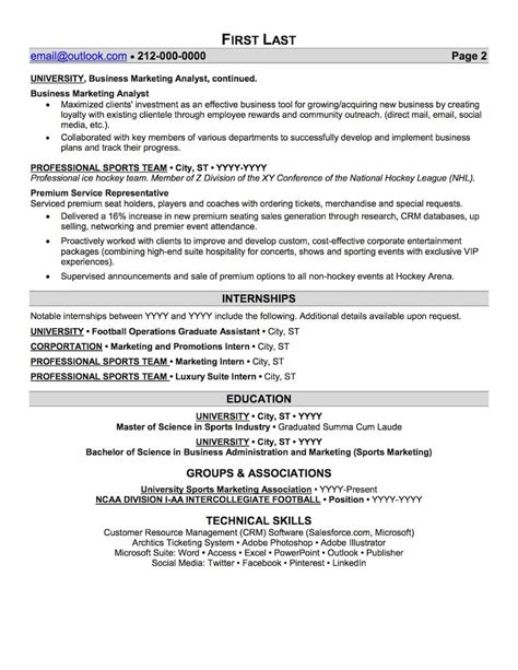 Sports Management Resume Exles Sports And Coaching Resume Sle Sports Management Resume Template