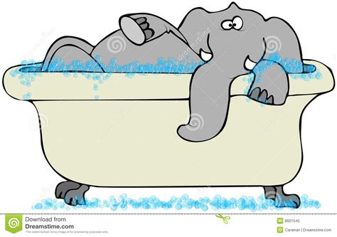 elephant in the bathtub elephant in a bathtub royalty free stock photo image