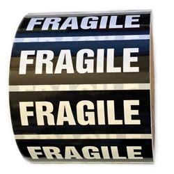 Label Sticker Pengiriman Fragile 2 black and white quot fragile quot sticker label 1 quot by 3 quot 500 ct