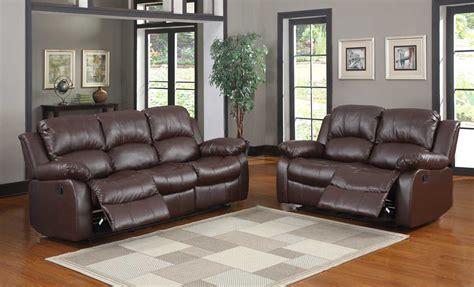 Brown Leather Recliner Sofa Set Homelegance Cranley Reclining Sofa Set Brown Bonded Leather U9700brw 3 At Homelement