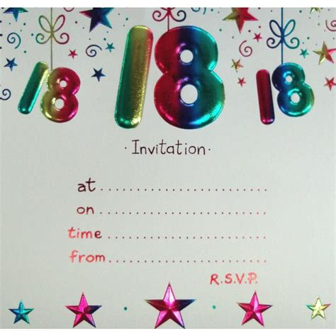 birthday invitation card template printable 18 birthday invitation templates 18th birthday