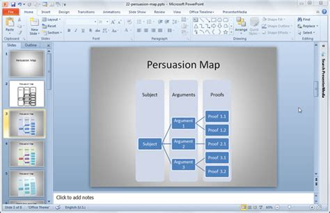 how to make a persuasion map template in powerpoint