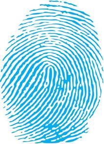 Biometric Art by Blue Fingerprint Png Blue Fingerprint Clipart Best