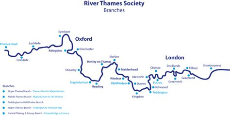 river thames at windsor map river thames society branches map of river thames from
