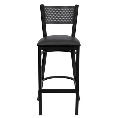 restaurant quality bar stools metal grid barstool