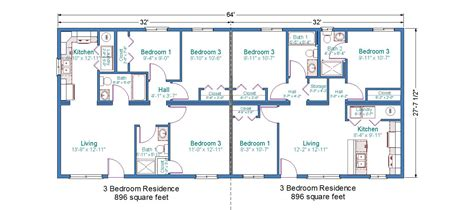 duplex plans 3 bedroom modular duplex tlc modular homes