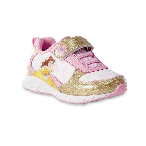 pink toddler sneakers disney and the beast toddler gold sparkle
