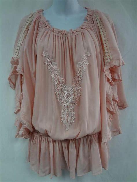 Lace Up Cotton Skirt Mango mango xl light blush pink caftan tunic top