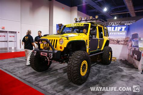 yellow jeep 4 door 2012 sema superlift yellow 4 door jeep jk wrangler