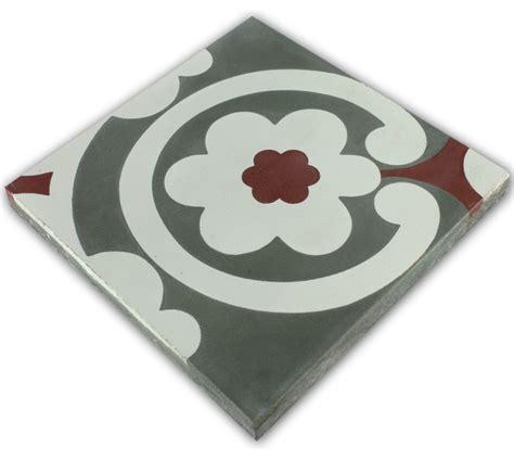 küchenfliese wand zementfliesen ornament blumen rot klassisch wand