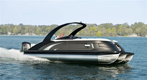 boat picture qx25 fiberglass pontoon boats by bennington
