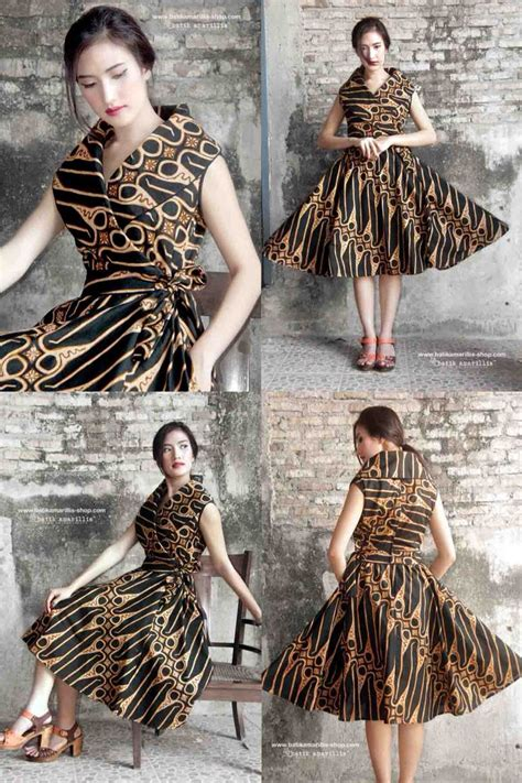 desain dress batik terkini 25 best ideas about modern batik dress on pinterest