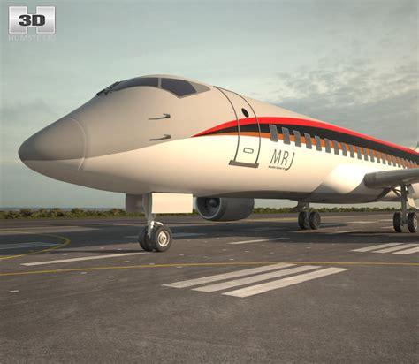 mitsubishi jet mitsubishi regional jet 90 3d model hum3d