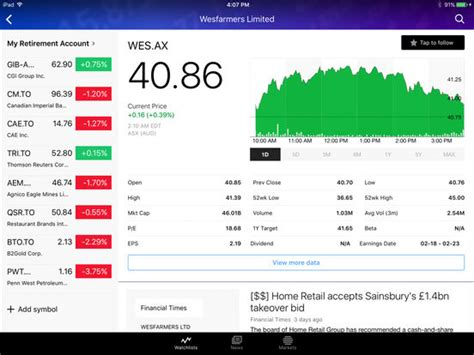 yahoo finance stock quotes mobile yahoo finance real time stock quotes and news on the app