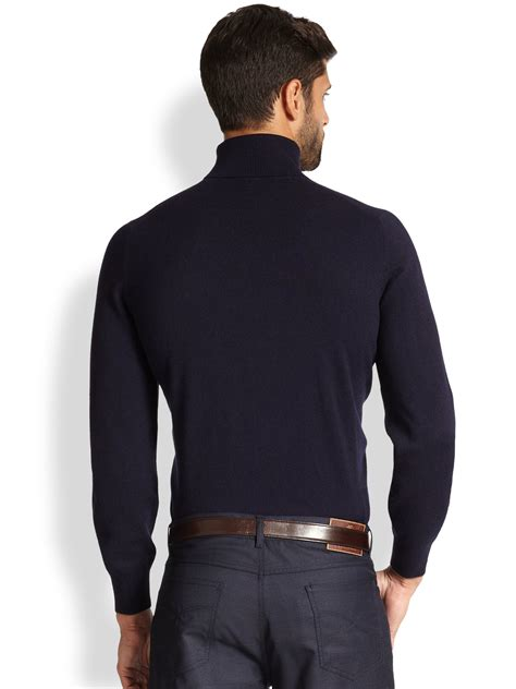 mens light blue turtleneck sweater lyst brunello cucinelli cashmere turtleneck sweater in