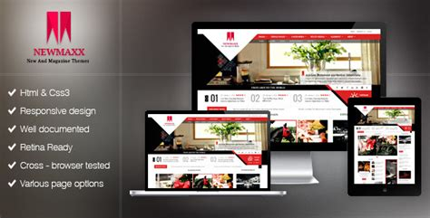 themeforest template new maxx html5 magazine web template by kopasoft themeforest