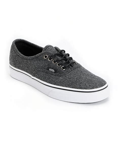 Vans Brownish Grey Shoes vans authentic grey wool skate shoes zumiez
