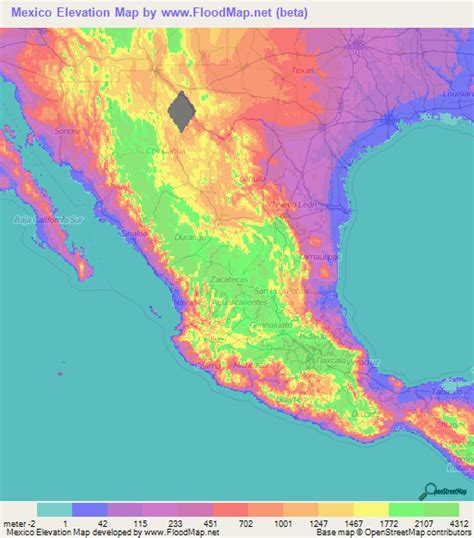 topographic map of mexico topographic map of mexico mexico map