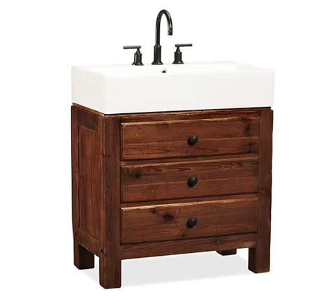 pottery barn sink console single sink console rustic mahogany finish