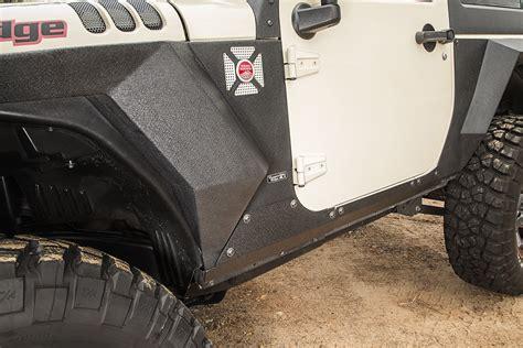 rugged ridge armor rugged ridge 11615 11 steel armor cladding for 07 18 jeep wrangler jk 2 door quadratec