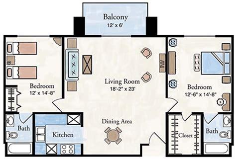 Two Bedroom Floor Plan Two Bedroom Apartment Floor Plan Larksfield Place