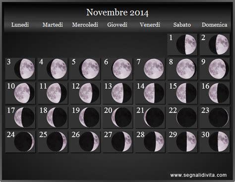 Calendario Lunare Novembre 2017 Calendario Lunare 2014 Fasi Lunari