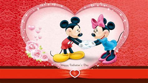 mickey wishes happy valentines day wallpa 12086