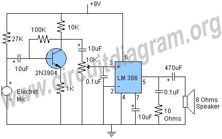 transistor microphone lifier circuit simple mic lifier circuit diagram