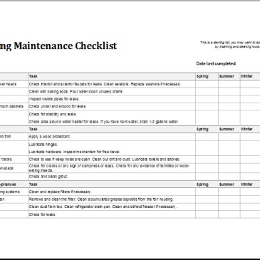 preventive maintenance checklist template building preventive maintenance checklist template