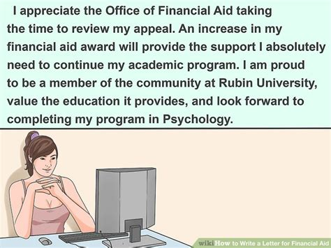 My Financial Aid Appeal Letter 3 ways to write a letter for financial aid wikihow