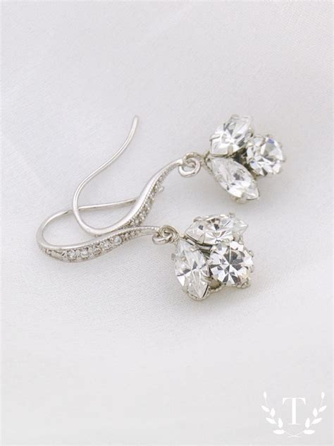 braut ohrringe tropfen swarovski crystal drop earrings bridesmaids earrings