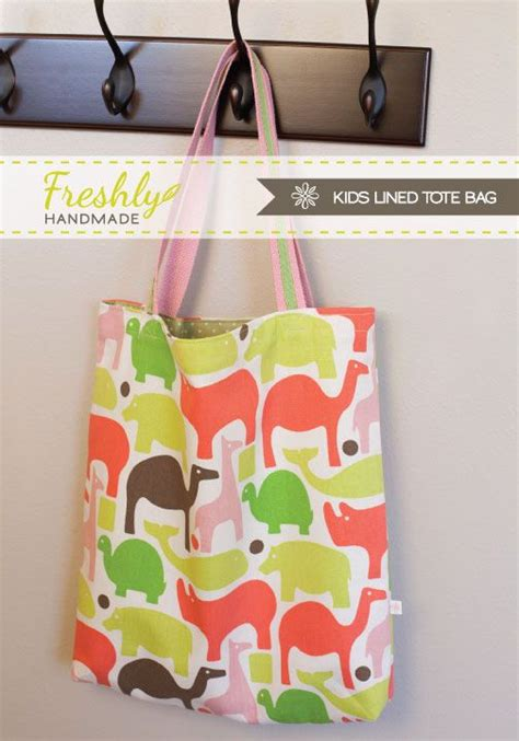 Tutorial Handmade Bag - kid s lined tote bag tutorial from freshly