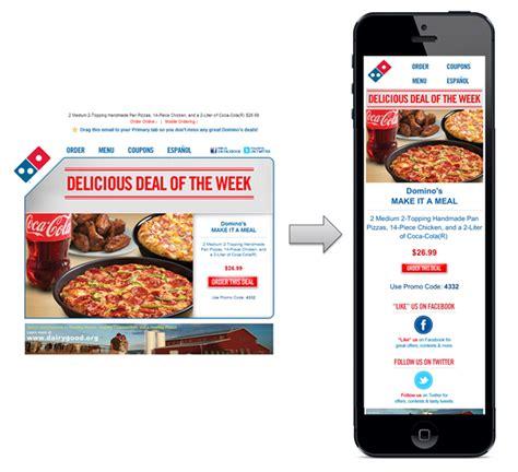 domino pizza email e mails responsivos guia de boas pr 225 ticas