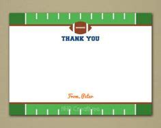 printable thank you cards football football themes football and thank you notes on pinterest