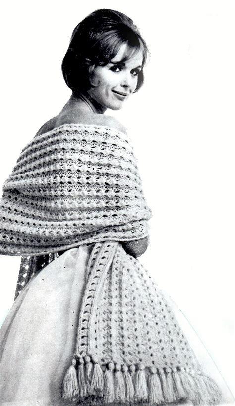 vintage knitted patterns vintage knitting stole or shawl or wrap pattern vintage