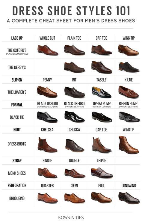 shoe guide the ultimate men s dress shoe guide bows n ties
