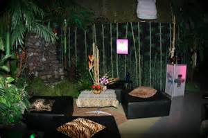 Jungle Themed Home Decor Tropical And Jungle Theme Amp Event Rentals Display Group