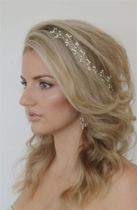 Wedding Hair With Headpiece by Baby S Breath Pearl Hair Vine Pearl Bridal Headpiece