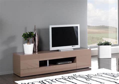 meuble television design meuble tv design 2 portes 2 tiroirs laqu 233 taupe melvie ii meuble tv design meuble tv hifi