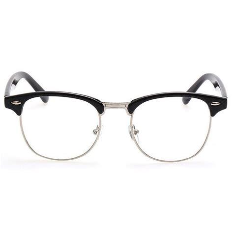 Frame Kacamata Vintage kacamata vintage pria wanita silver black
