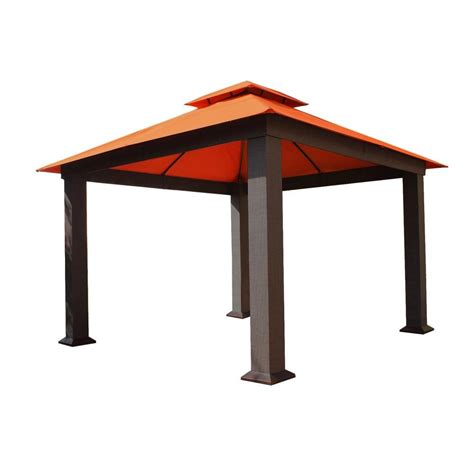 home depot gazebo stc 12 ft x 12 ft seville gazebo gz734 the home depot