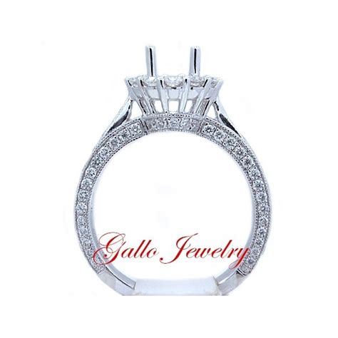 Antique Style Engagement Rings by Eng00694 Antique Style Halo Engagement Ring