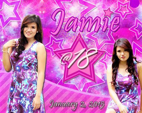 layout design for 18th birthday jamie s 18th birthday tarpaulin invatation etc layout