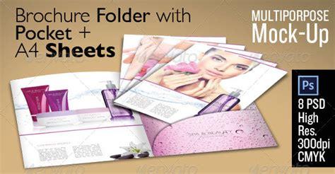 93 Best Folder Mockups Die Line And Design Templates Pocket Brochure Template